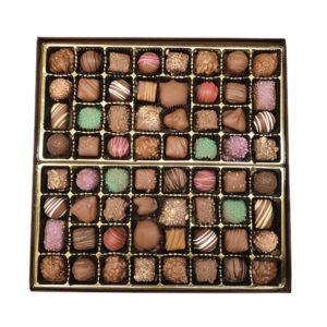 2 lb box of chocolates with assorted chocolates