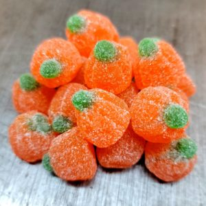 orange flavored jelly pumpkins